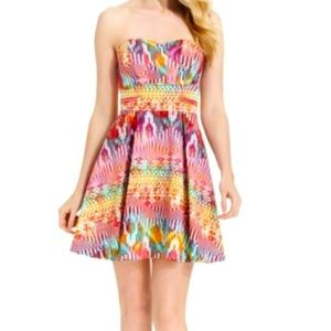 Guess Multicolor Strapless Dress size 4